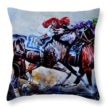 The Preakness Stakes Throw Pillow
