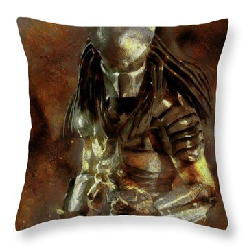The Predator Scroll Throw Pillow