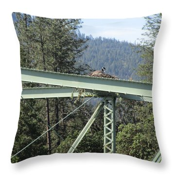 Throw Pillow featuring the photograph The Pretender by Marie Neder