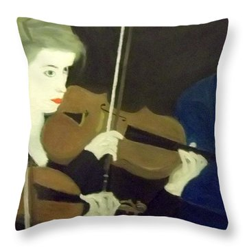 The Prettiest Violinist In The Orchestra Throw Pillow