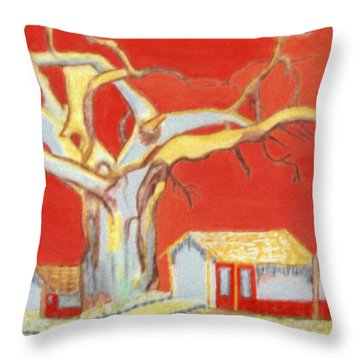Throw Pillow featuring the painting The Pride Of The Village by Connie Valasco