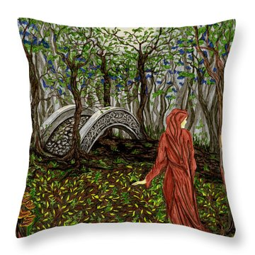 The Priestess Of Ealon Throw Pillow
