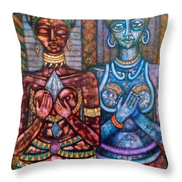 The Priestess Of The Occult Throw Pillow by Madalena Lobao-Tello