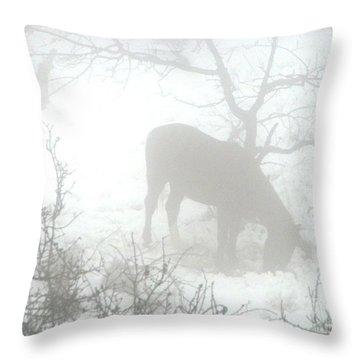 The Primal Mist Throw Pillow by Annemeet Hasidi- van der Leij