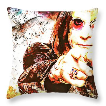 The Prince Of Darkness Throw Pillow