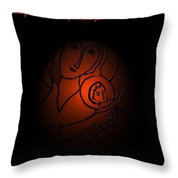The Prince Of Peace Throw Pillow by Latha Gokuldas Panicker