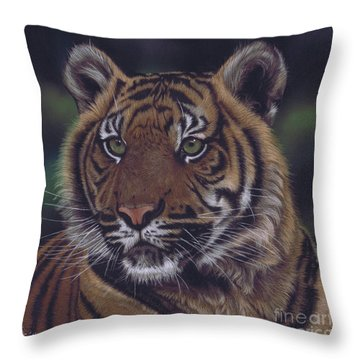 The Prince Of The Jungle Throw Pillow