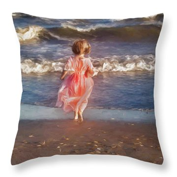 The Princess And The Sea Throw Pillow