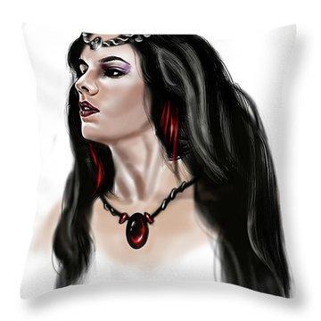 The Princess Morgana Throw Pillow by James Christopher Hill
