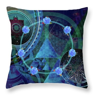 Throw Pillow featuring the digital art The Prism Of Time by Kenneth Armand Johnson