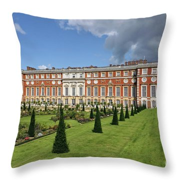 The Privy Garden Hampton Court Throw Pillow