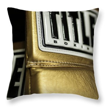 Title Boxing Gloves Throw Pillow