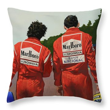 The Professor And The Magician Throw Pillow