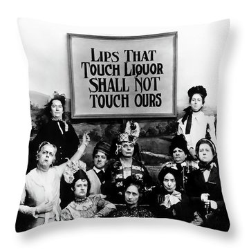 The Prohibition Temperance League 1920 Throw Pillow