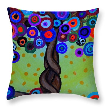 Throw Pillow featuring the painting The Prolific Tree by Pristine Cartera Turkus