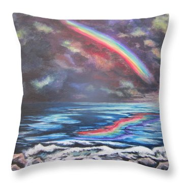 Throw Pillow featuring the painting The Promise by Cheryl Pettigrew