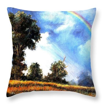 Throw Pillow featuring the painting The Promise  by Hazel Holland