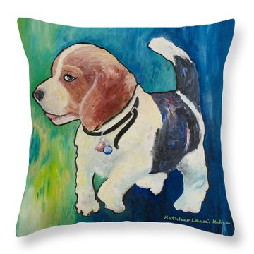 The Proud Puppy Throw Pillow
