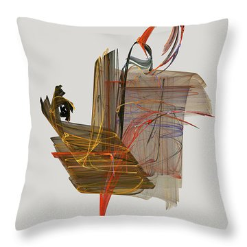 The Proud Rooster Throw Pillow by Jackie Mueller-Jones