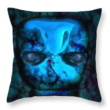 The Pukel Stone Face Throw Pillow