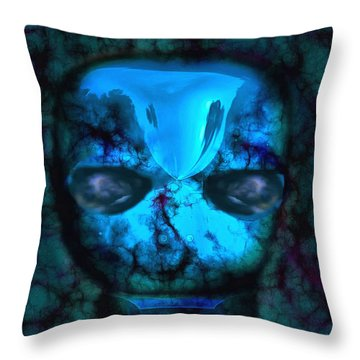 The Pukel Stone Face Throw Pillow by Mario Carini