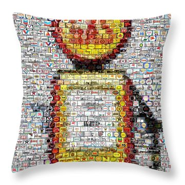 The Pump Mosaic Throw Pillow by Paul Van Scott