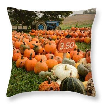 The Pumpkin Farm One Throw Pillow