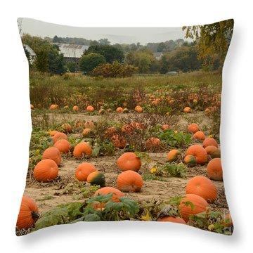 The Pumpkin Farm Two Throw Pillow
