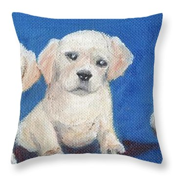 The Pups 1 Throw Pillow by Roger Wedegis