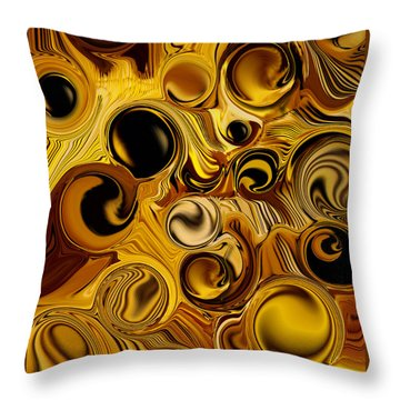 Throw Pillow featuring the digital art The Pure Movement by Carmen Fine Art