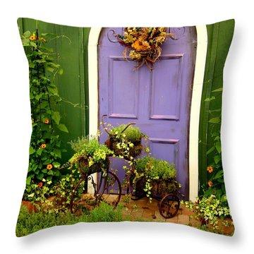 The Purple Door Throw Pillow