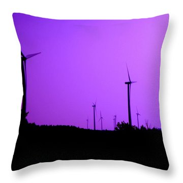 The Purple Expanse Throw Pillow