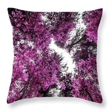 The Purple Forest Throw Pillow