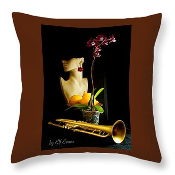 The Purple Orchid Throw Pillow