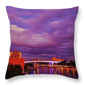 Throw Pillow featuring the photograph The Purple People Eaters Of Minneapolis, Minnesota by Sam Antonio Photography