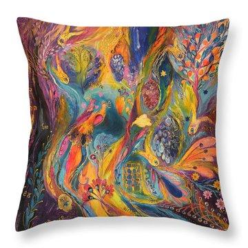 The Purple Rain Throw Pillow by Elena Kotliarker