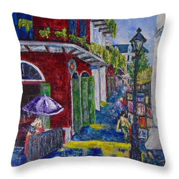 The Purple Umbrella        Pirates Alley Throw Pillow