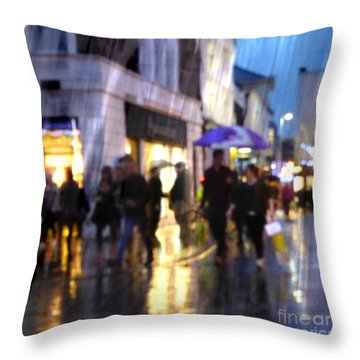 Throw Pillow featuring the photograph The Purple Umbrella by LemonArt Photography