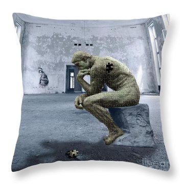 Throw Pillow featuring the photograph Puzzled by Juli Scalzi