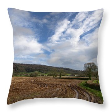The Quantocks In Somerset Throw Pillow