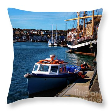 The Quayside  Throw Pillow
