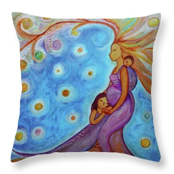 The Queen And Her Childrens  Throw Pillow