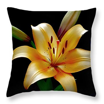 The Queen Lily Throw Pillow