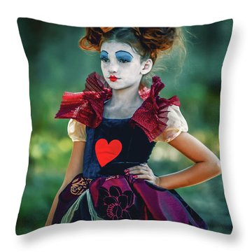 The Queen Of Hearts Alice In Wonderland Throw Pillow