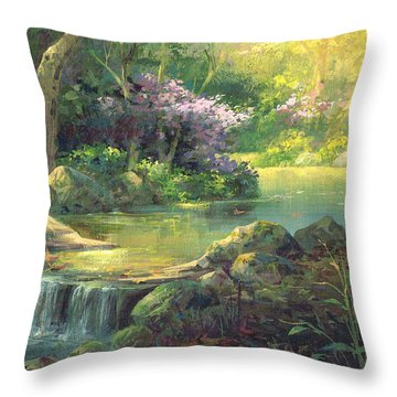 The Quiet Creek Throw Pillow