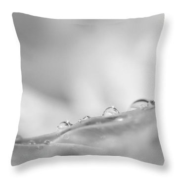 The Quiet Moments Between Breaths Throw Pillow