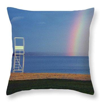 The Quiet Season - Lake Geneva Wisconsin Throw Pillow