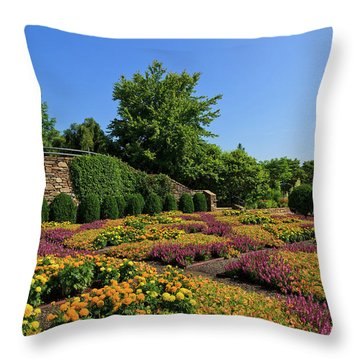 The Quilt Garden Throw Pillow