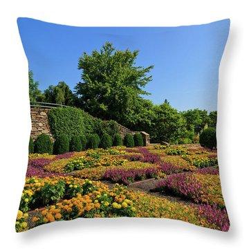 The Quilt Garden Throw Pillow