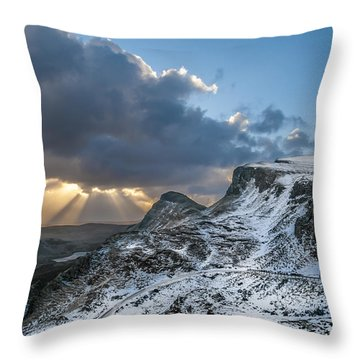 The Quiraing Just After Dawn Throw Pillow